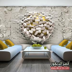 عيوب ورق الجدران 3d