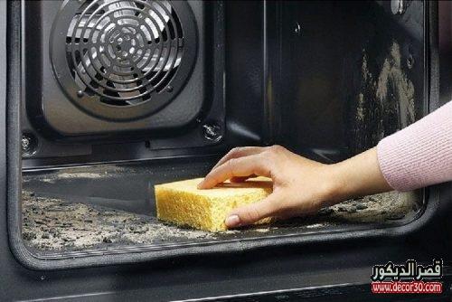 طريقة تنظيف الفرن الكهربائي