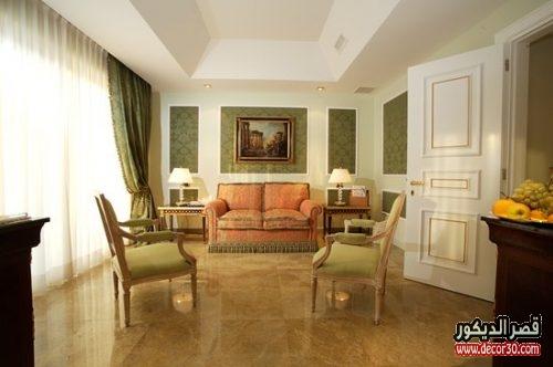 غرف جلوس بالنمط الكلاسيكي