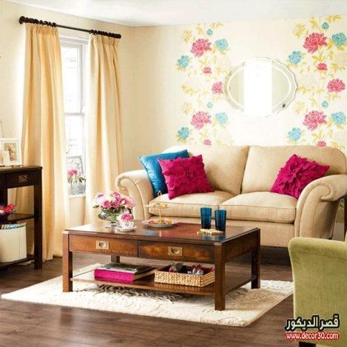 غرف معيشة بسيطة