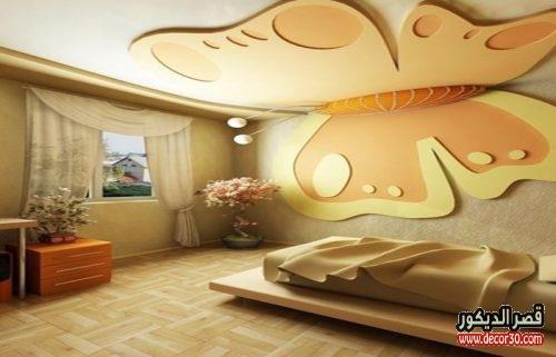 أشكال جبس اسقف غرف نوم اطفال