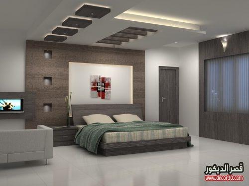 تصاميم جبس بورد لغرف النوم | أحدث أشكال جبس بورد 2018   قصر الديكور