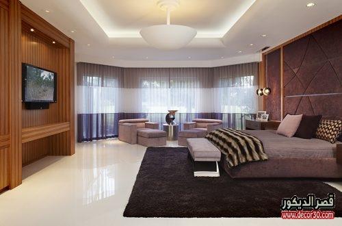 أشكال جبس غرف نوم فنادق
