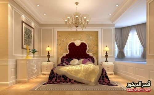 أشكال جبس غرف نوم كلاسيك