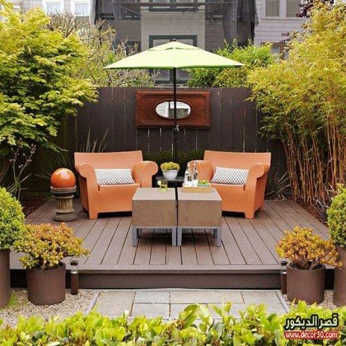اجمل حدئق منزلية بسيطة