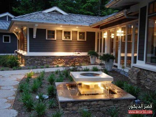 احدث تصاميم ديكورات منازل خارجية