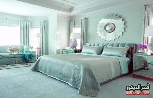 احدث ديكورات الوان حوائط غرف النوم للعرائس