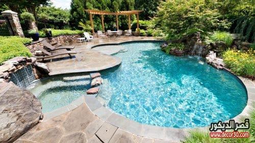 اشكال حمامات السباحة للفيلات