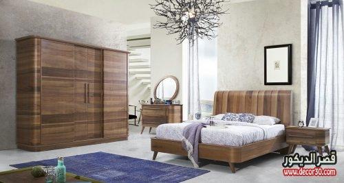 اشكال غرف النوم الخشب