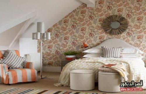 اصباغ غرف نوم طباعة