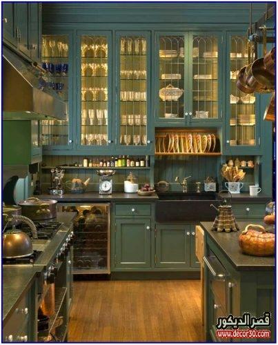 افكار دواليب المطبخ من الداخل