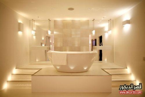 افكار مميزة لاضاءة الحمام