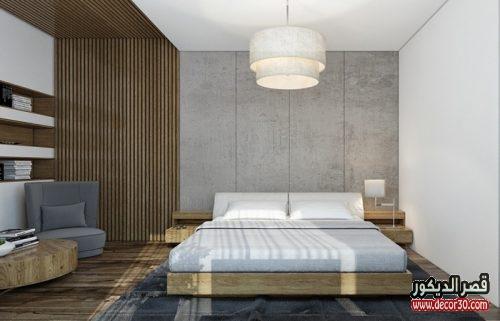 الوان حوائط غرف النوم الحديثة بسيطة