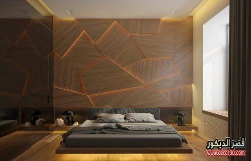 الوان حوائط غرف النوم الحديثة مودرن