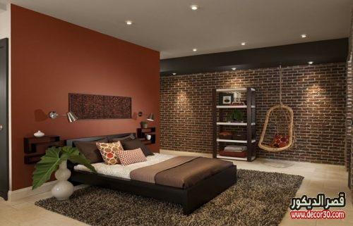 الوان حوائط غرف النوم الحديثة
