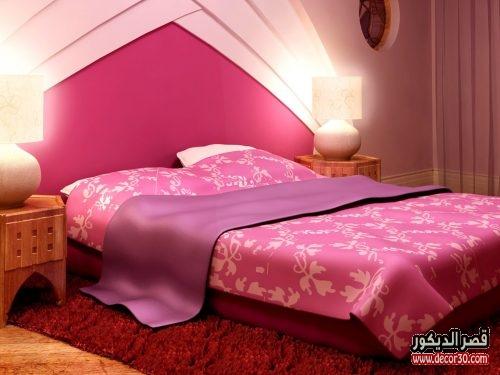 الوان حوائط غرف النوم بسيطة