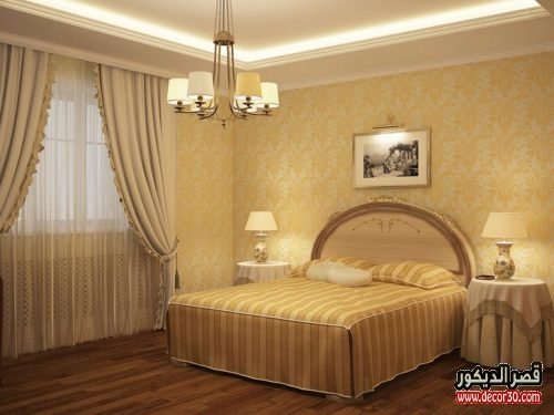 الوان حوائط غرف النوم مودرن
