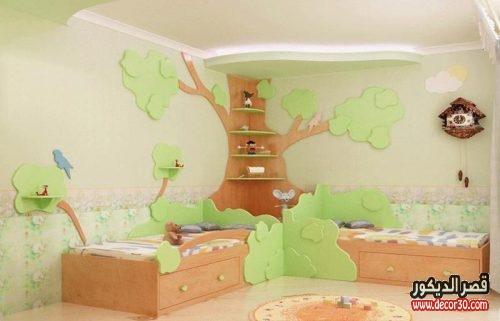 الوان حوائط غرف نوم اطفال بسيطة