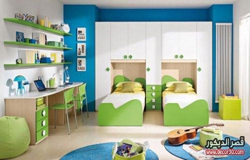 الوان حوائط غرف نوم اطفال لفردين
