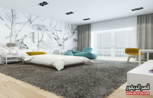 الوان دهانات غرف النوم الحديثة بالرسم