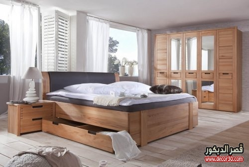 الوان دهانات غرف النوم الخشب