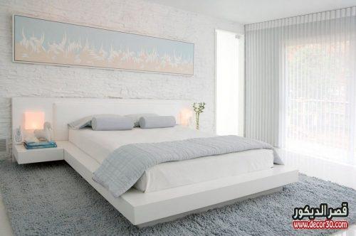 الوان ديكورات غرف نوم أبيض