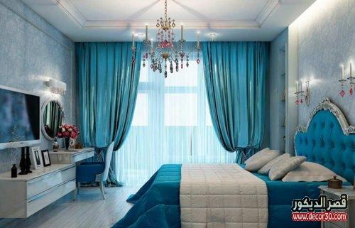 الوان غرف النوم للمتزوجين صغيرة