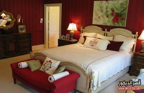 الوان غرف النوم للمتزوجين كلاسيك