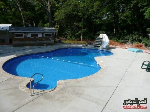 برك سباحة منزلية صغيرة