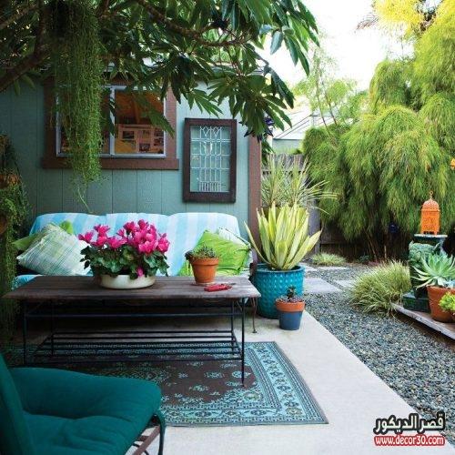 تزيين حدائق البيوت الصغيرة