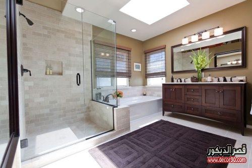 تصاميم اضاءة حمامات حديثة