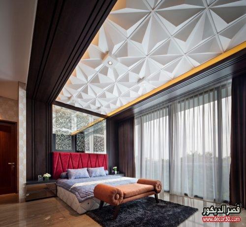 تصاميم جبس بورد لغرف النوم الفخمة