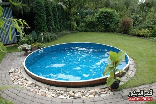 تصاميم حمامات سباحة صغيرة