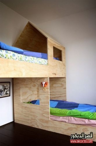 تصاميم غرف نوم صبيان بسريرين