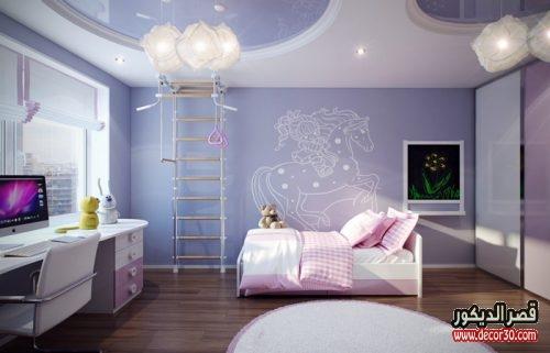 تصميمات اسقف غرف بنات