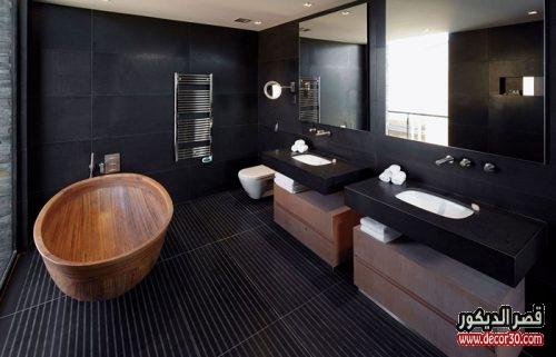 تصميم الحمام باللون الأسود