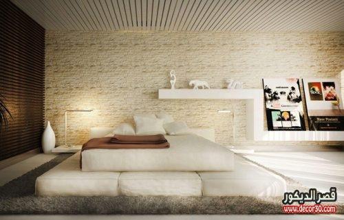 تصميم الوان حوائط غرف النوم الحديثة