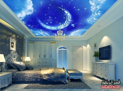 تصميم جبس لغرف النوم الناعمة