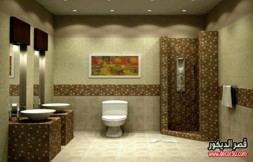 تصميم حمامات بسيطة