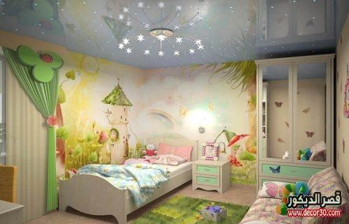 جبس بورد غرف نوم اطفال 2018