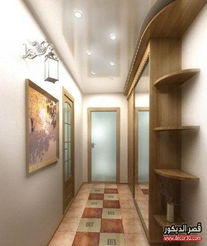 جبس ممرات منازل بالخشب