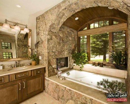 حمامات واسعة فخمه