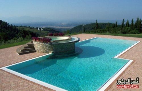 حمام سباحة مسطح