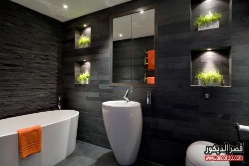 ديكورات اضاءة حمامات