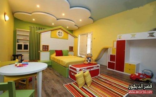 ديكورات جبس اسقف غرف نوم اطفال 2018