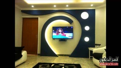ديكورات جبس تلفزيون lcd