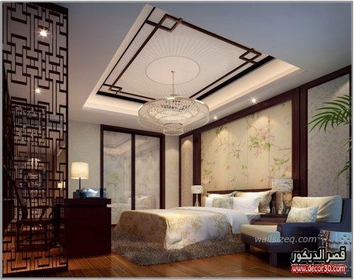 ديكورات جبس غرف نوم رومانسية