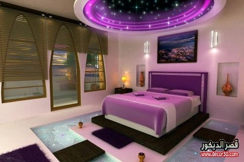 ديكورات جبس غرف نوم زوجية