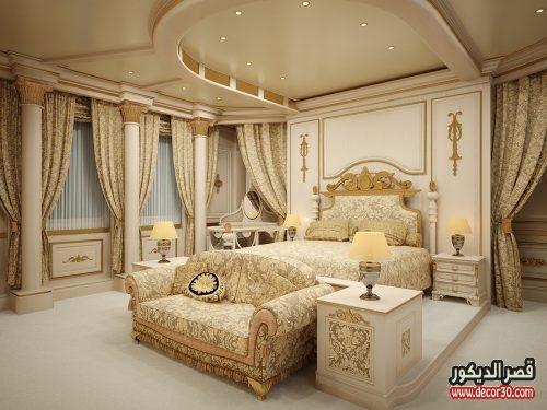 ديكورات جبس غرف نوم فخمة
