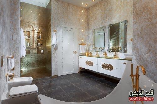 ديكورات حمامات بسيطة مودرن